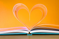 book with heart-shaped pages