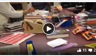 Video Clip of Volunteers At Library
