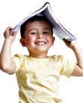 Preschool boy with book