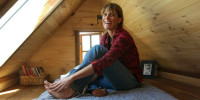 Dee Williams in her tiny house