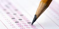 Pencil filling in test sheet