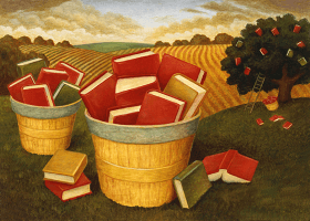 books in a basket