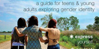 teen girls on a road facing away