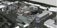 aerial view of proposed Bethany Plaza complex