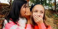 girls telling jokes