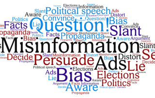 cloud of words about news and factchecking