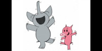 Elephant and Piggie dance