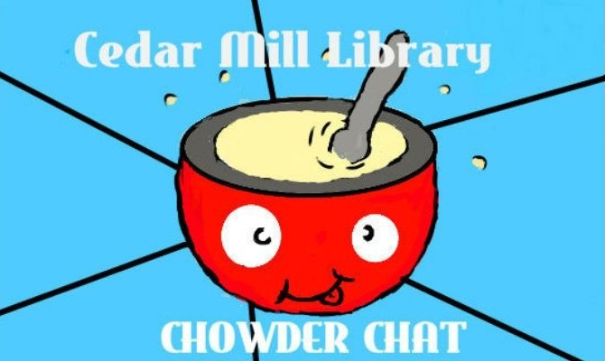 teen library council podcast logo of chowder bowl with smile