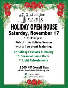 holiday open house flyer 2018
