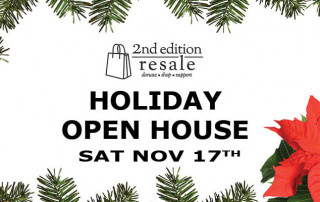 Second Edition Resale Shop Holiday Open House Nov 17