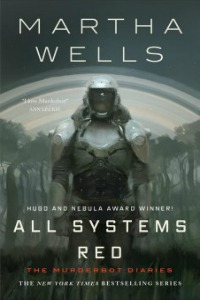 book cover of a robot in front of a grey background