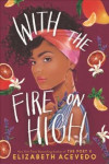 Book cover illustration of Latina teen with colorful headwrap and fruit around her head