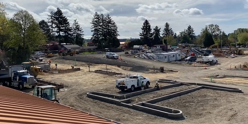 Parking Lot Taking Shape - video