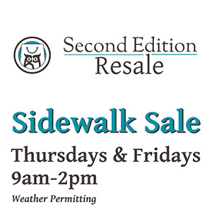 Second Edition Resale Sidewalk Sale
